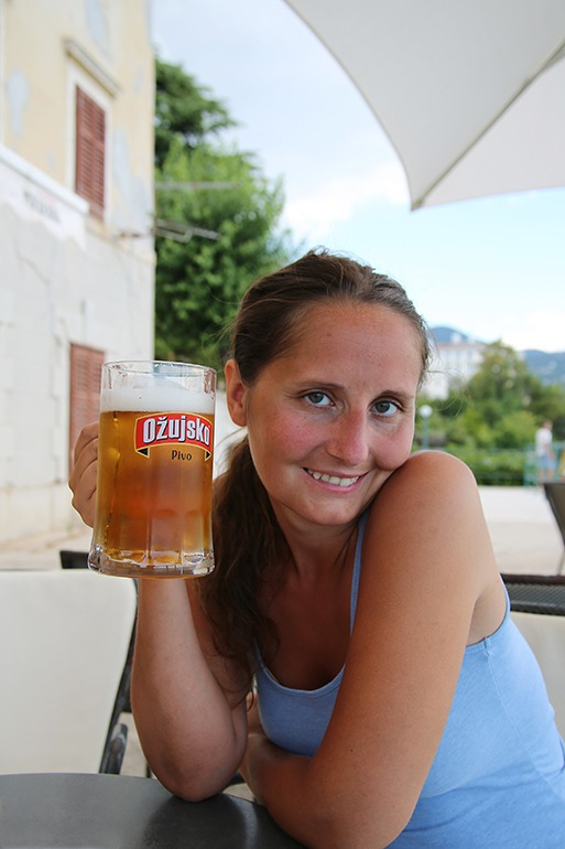 Auch ein Bier darf's mal sein Ožujsko