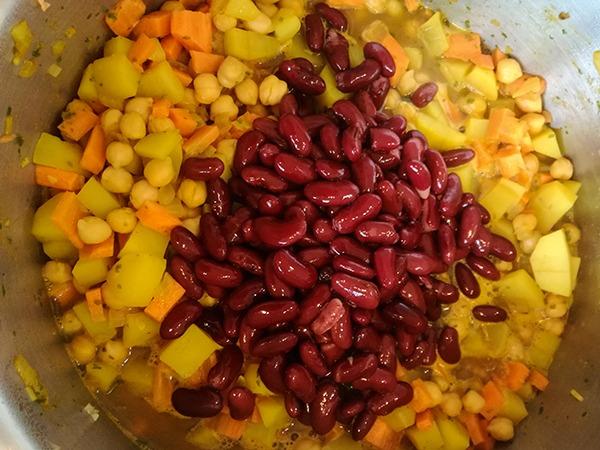 Kidneybohnen für einen schönen Farbkontrast