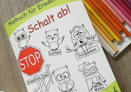 Schalt ab! Malbuch für Erwachsene