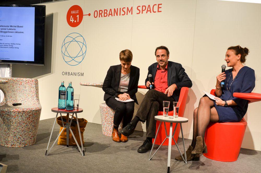 Bloggertreffen des Aufbau Verlags mit Michel Bussi