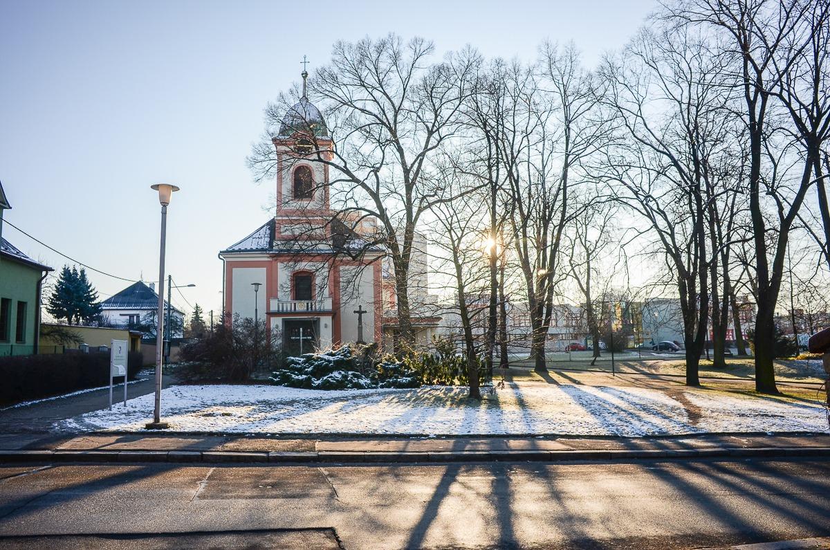 Ostrava bei Schnee